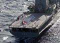 Ceremony on board JS Chihaya (ASR-403), -25 Nov. 2001 b.jpg