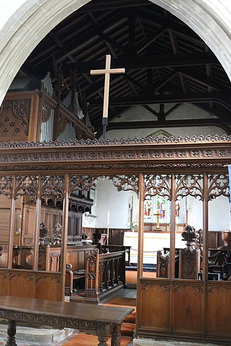 St Michael and All Angels' Church, Waddesdon - Chancel and organ
