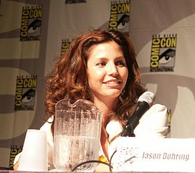 Charisma Carpenter, l'actrice interprétant Cordelia, au Veronica Mars panel en 2005.