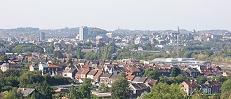 Charleroi - Image: Charleroi vu depuis Couillet cropped