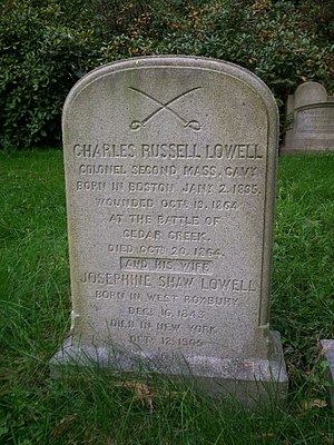 Charles Russell Lowell - Grave of Charles Russell Lowell at Mount Auburn Cemetery