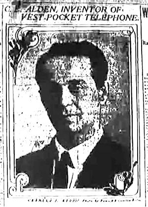 Charles E. Alden - A picture of Alden in the April 29, 1906 issue of the New York World