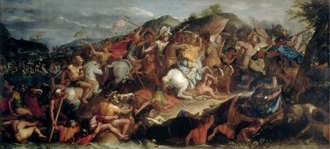 Battle of the Granicus - The Battle of the Granicus River by Charles Le Brun