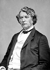 Studio black and white portrait photo of Sen. Charles Sumner.