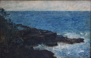Charles W. Bartlett - Hana Maui Coast, 1920, watercolour and ink