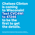 Chelsea Clinton coming to Wisconsin14566216 1261679767198051 8462339483521888952 o.png