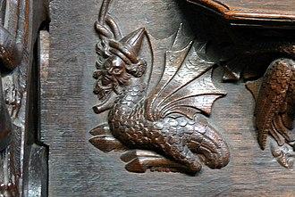 Wyvern - Image: Chester Cathedral Chorgestühl 7 Wyvern