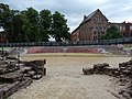 Chester Roman Amphitheatre - view south from entrance to arena.jpg
