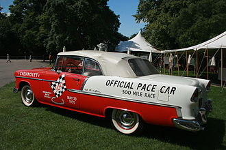 Indianapolis 500 pace cars - 1955 Chevrolet Bel Air Pace Car