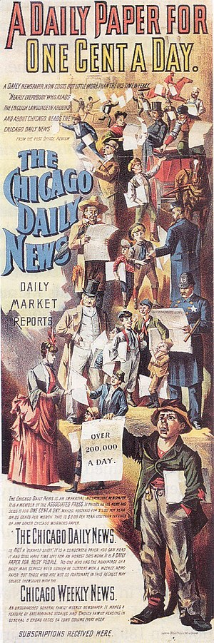 Chicago Daily News - The Chicago Daily News was a major daily 1876-1978