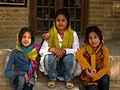 Children in Ribat-i-Abbasi of Nishapur (Hossein - Ali - Fatemeh - Hengameh and another girl - probably Afghani) 16.jpg