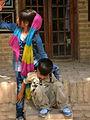 Children in Ribat-i-Abbasi of Nishapur (Hossein - Ali - Fatemeh - Hengameh and another girl - probably Afghani) 18.jpg