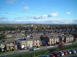 English: Childwall Valley with Belle Vale Shop...