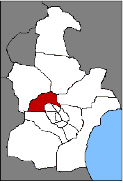 Location of Beichen District in Tianjin