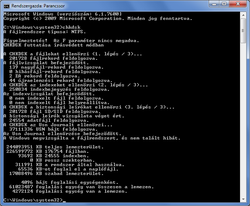 Chkdsk screenshot Win7 HU.png