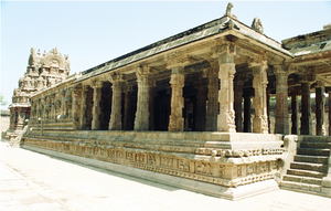 A temple from the Chola period. The Cholas uni...