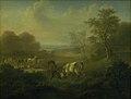 Christian David Gebauer - Hjorte i Dyrehaven, i baggrunden Eremitagen - KMS277 - Statens Museum for Kunst.jpg