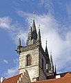 Church of Our Lady in front of Týn-Tower side view (Prague).jpg