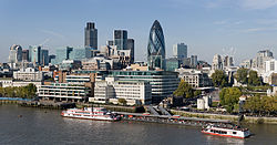 City of London skyline from London City Hall - Oct 2008.jpg