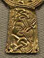 Cividale, necropoli di s. stefano in pertica, tomba 11 di ragazzo di rango, 600-615 ca, croce in oro con sbalzo 3.jpg