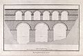 Civil engineering; a double-tiered aqueduct over a river val Wellcome V0024323.jpg