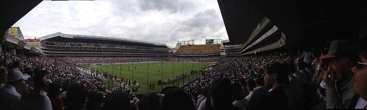 Panorámica del Estadio de Liga Deportiva Universitaria.