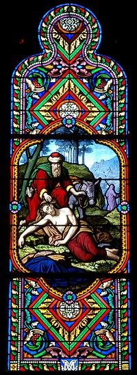 http://en.wikipedia.org/wiki/File:Cl-Fd_Saint-Eutrope-vitrail1.jpg