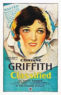 <i>Classified</i> (1925 film) 1925 film by Alfred Santell