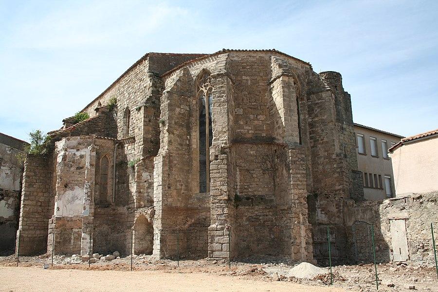 Clermont-l'Hérault (Hérault) - Chevet de la chapelle des Dominicains.