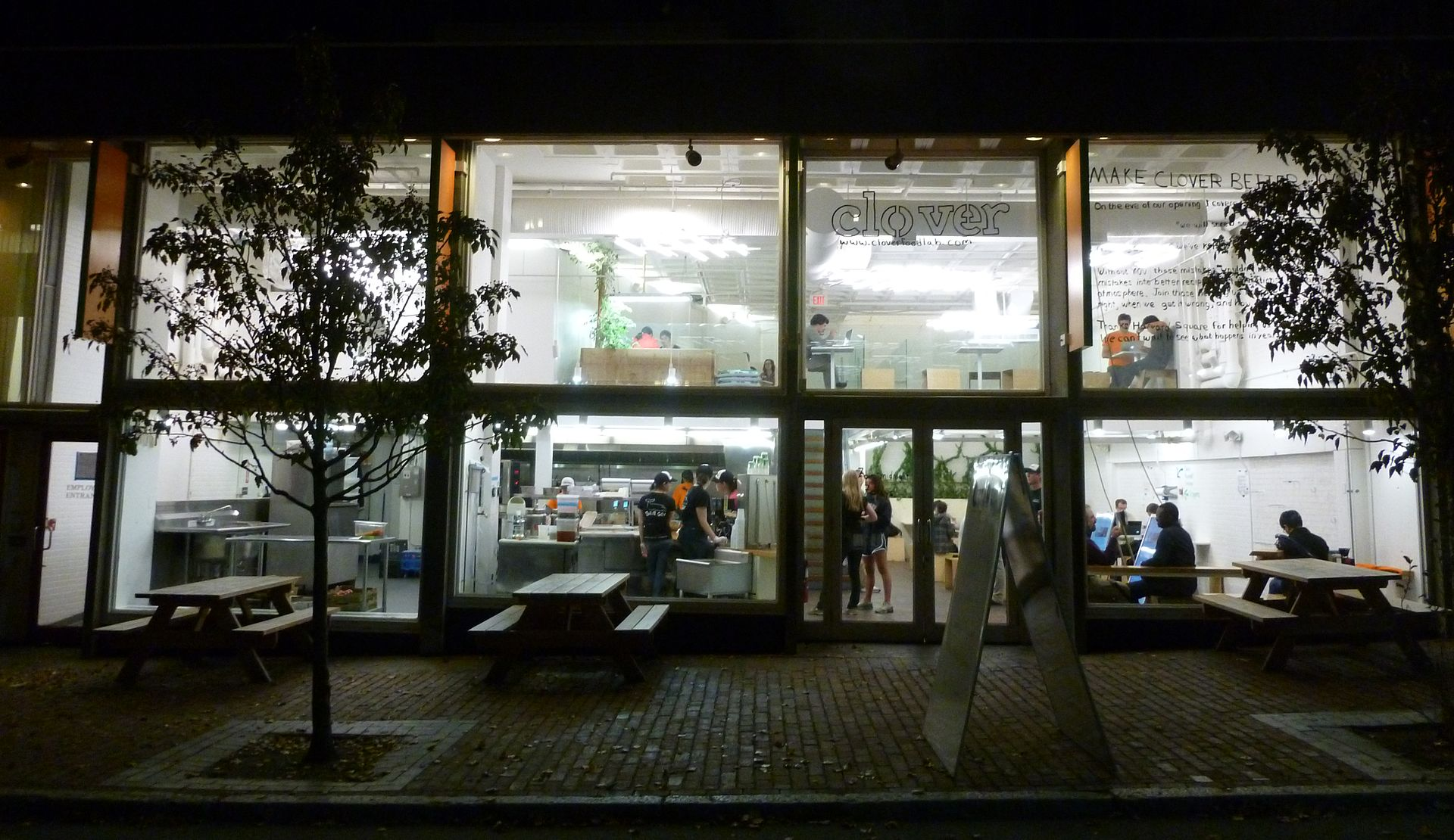 Clover Food Lab Harvard Square Menu