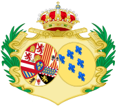 Coat of Arms of Elisabeth Farnese, Queen Consort of Spain.svg