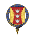 Coat of Arms of Sir David Brewer, KG, CMG, CVO, JP.png