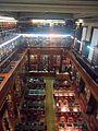 Colegio Nacional de Buenos Aires - Biblioteca, vista de las mesas desde el segundo piso (2).jpg