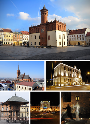 Tarnów - Image: Collage of views of Tarnow