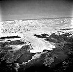 Columbia Glacier, Terminus with Oblique Look at Glacier Head, Terentiev Lake, Heather Island, September 26, 1981 (GLACIERS 1422).jpg
