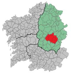 Comarca de Sarria: La Comarca de Sarria es una comarca central de Lugo (Galicia). Pertenecen a la misma los siguientes municipios: Incio, L?ncara, Paradela, O P?ramo, Samos, Sarria y Triacastela.