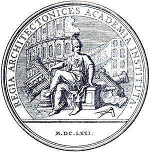 Académie royale d'architecture - Commemorative medallion, 1671