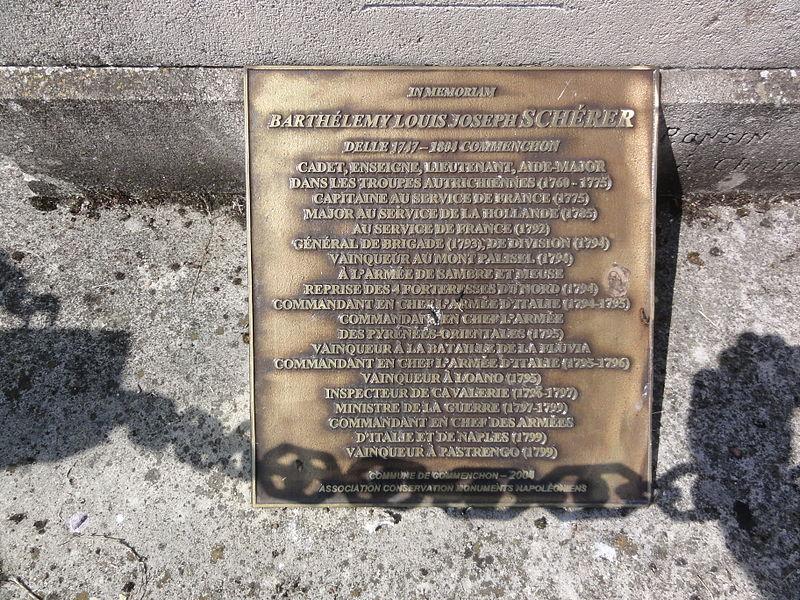 Commenchon (Aisne) plaque Barthélemy Schérer