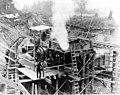 Concrete mixer at diversion dam headworks, September 15, 1910 (SPWS 151).jpg