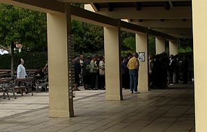 Confession (religion) -  Pilgrims queueing to confess at Međugorje, Bosnia and Herzegovina