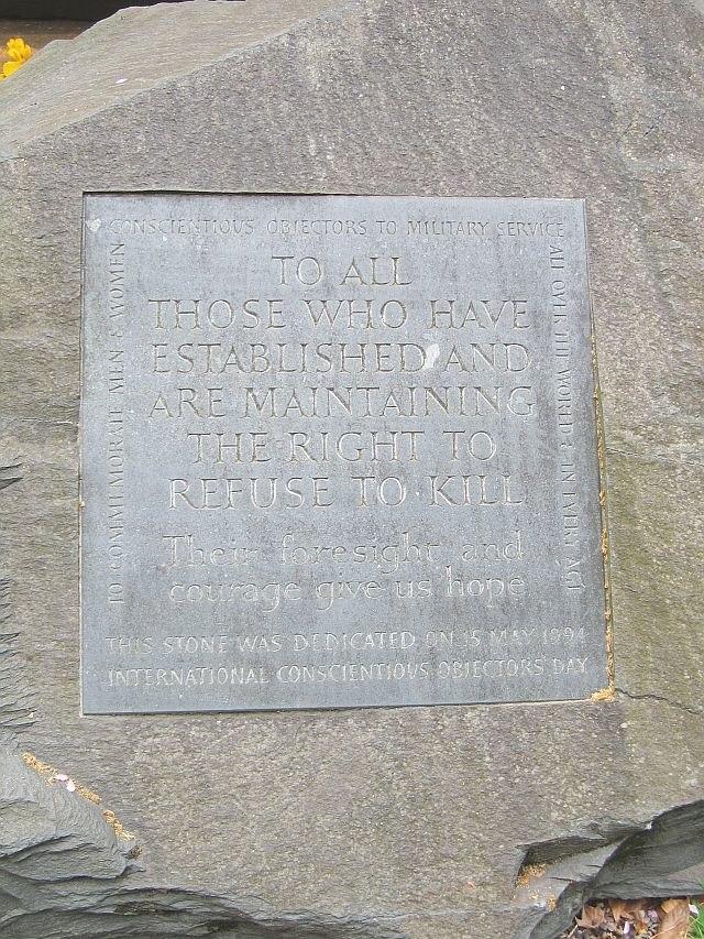 Conscientious Objector memorial, Tavistock Sq Gardens