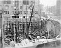 Construction of the foundation at Smith Tower construction site, Seattle, Washington, September 28, 1912 (SEATTLE 4890).jpg