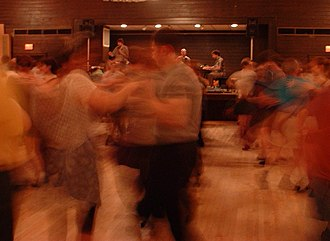 Contra dance - A Thursday night contra dance at the Fresh Pond Veterans of Foreign Wars hall in Cambridge, Massachusetts.