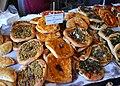 Coques al forn de llenya, mercat del riurau de Jesús Pobre.JPG