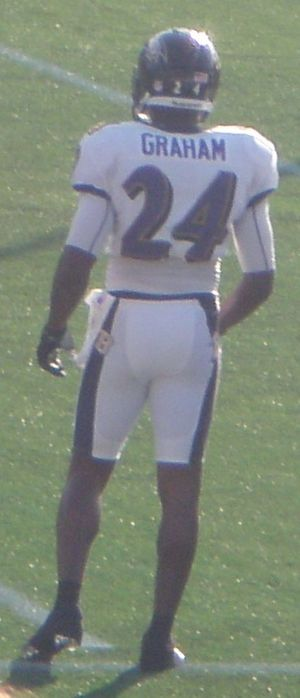 Corey Graham - Graham at Navy–Marine Corps Memorial Stadium in 2012.