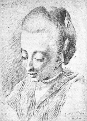 Cornelia Schlosser - Cornelia around 1770. Drawing by Johann Ludwig Ernst Morgenstern