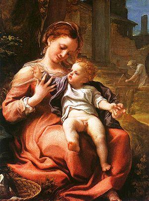 Madonna of the Basket (Correggio) - Image: Correggio Madonna
