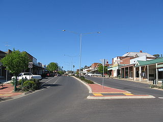 Corryong Town in Victoria, Australia