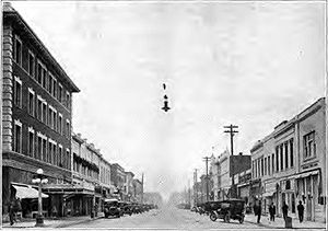 Corvallis, Oregon - Downtown circa 1920