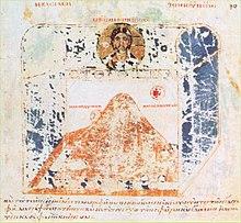 Rappresentazione del mondo di Cosma Indicopleuste - Terra piatta in un tabernacolo